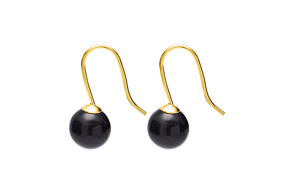 pearl-03-11 gold plated Black