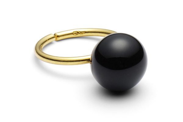 pearl-04-01 gold plated Black