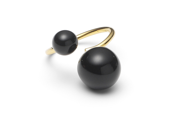 pearl-04-02 gold plated Black