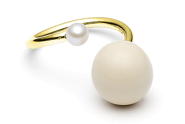 Fwpearl-04-02 gold plated Cashmere / Fwwhite