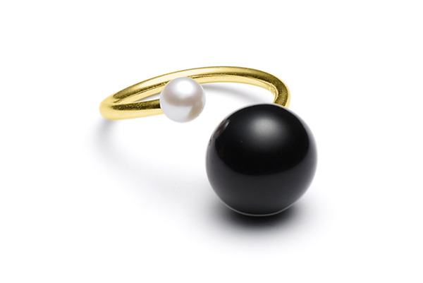 Fwpearl-04-02 gold plated Black / Fwwhite