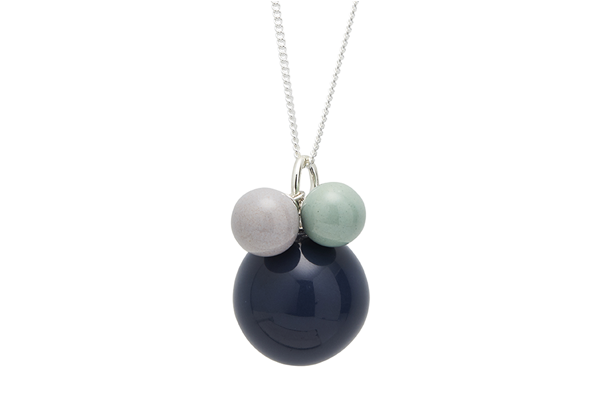 pearl-01-01 silver Dark Blue / Light Grey / Mint