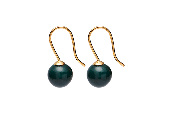 pearl-03-11 gold plated Dark Green