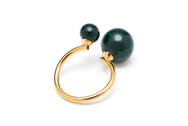 pearl-04-02 gold plated Dark Green
