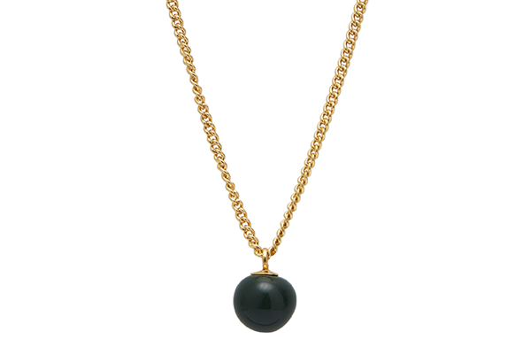 mini pearl-01-02 gold plated Dark Green