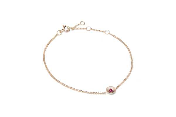 Embrace-02-03 rose gold plated Ruby