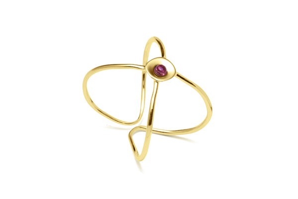 Embrace-04-01 gold plated Ruby