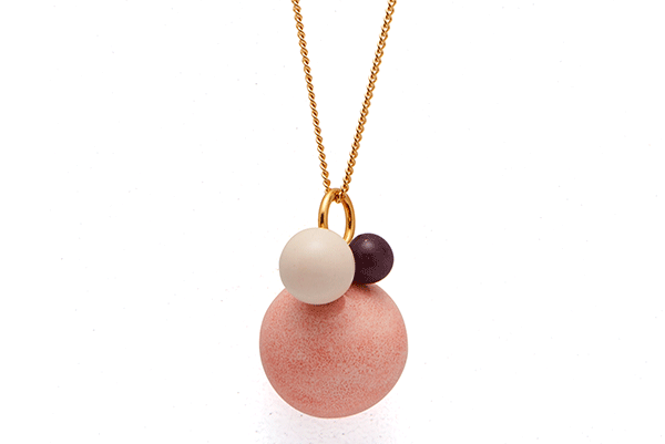 pearl-01-01 gold plated Pink Coral / Cashmere / Purple