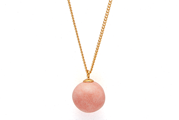 pearl-01-02 gold plated Pink Coral