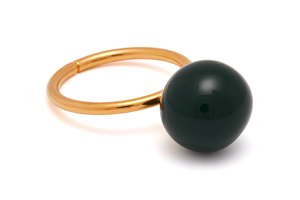 pearl-04-01 gold plated Dark Green