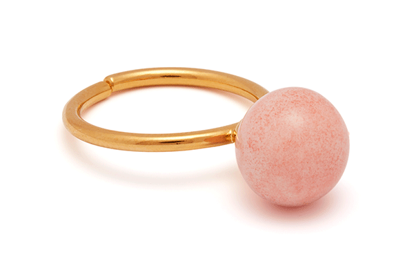 pearl-04-01 gold plated Pink Coral