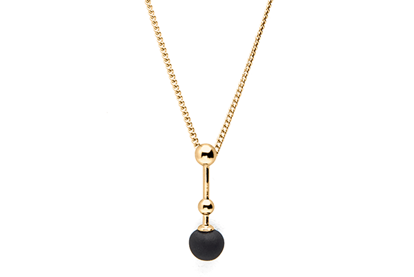 Sphere-01-01 gold plated Black mat