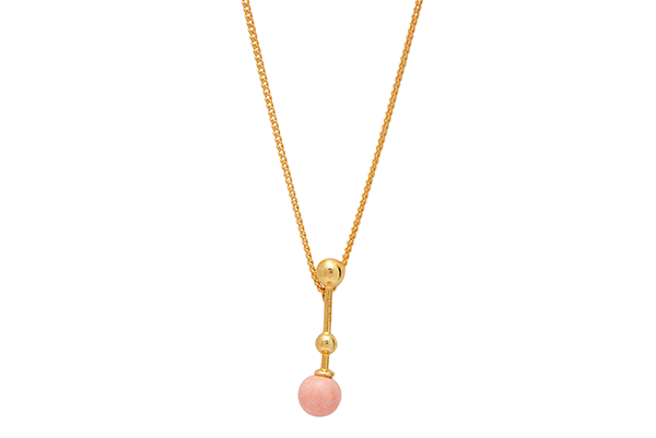 Sphere-01-01 gold plated Pink Coral