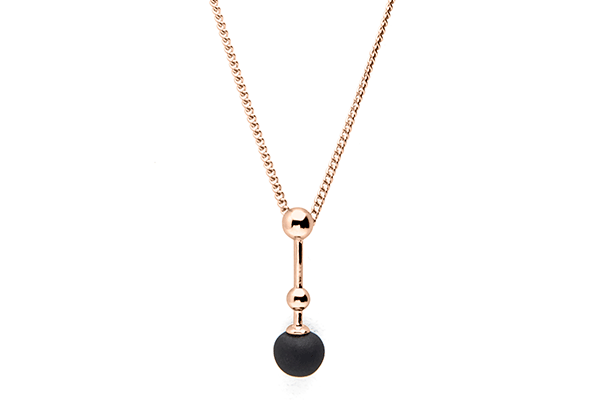 Sphere-01-01 rose gold plated Black mat