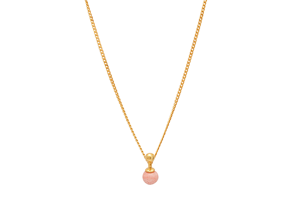 Sphere-01-02 gold plated Pink Coral