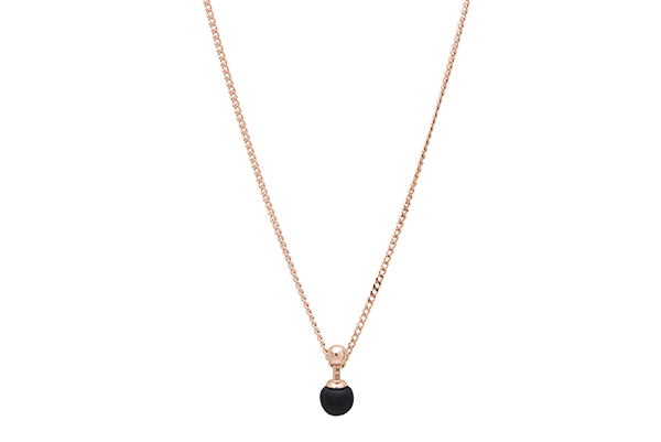 Sphere-01-02 rose gold plated Black mat