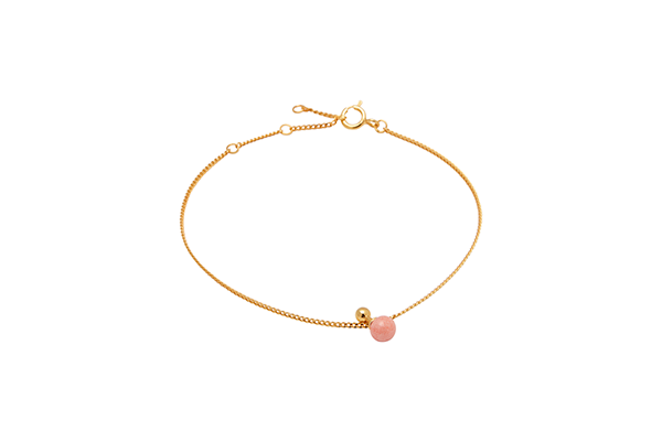 Sphere-02-03 gold plated Pink Coral
