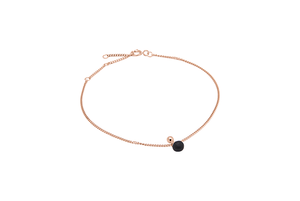 Sphere-02-03 rose gold plated Black mat