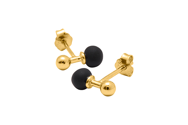 Sphere-03-01 gold plated Black mat