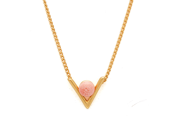 Inbetween-01-02 gold plated Pink Coral