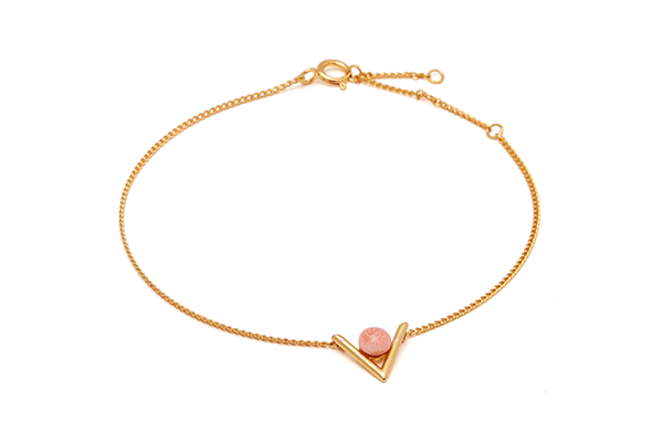 Inbetween-02-03 gold plated Pink Coral