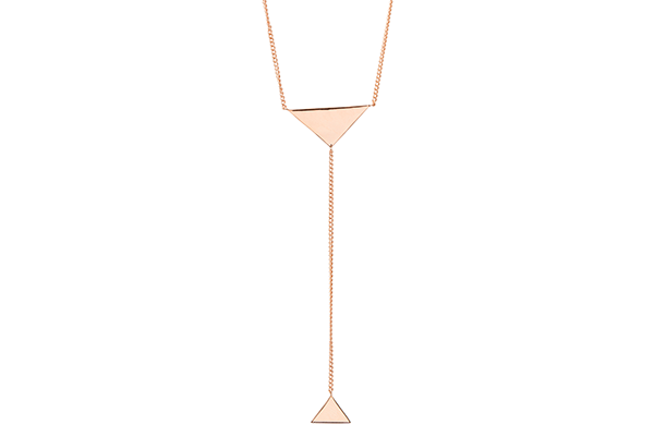 Triangle-01-01 rose gold plated None