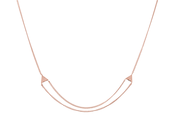 Triangle-01-02 rose gold plated None
