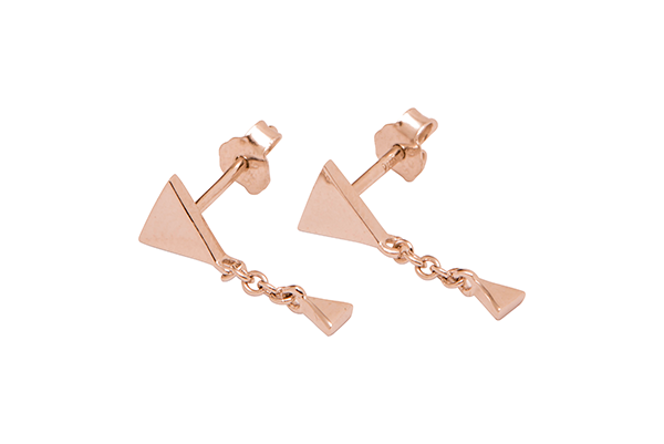 Triangle-03-10 rose gold plated None