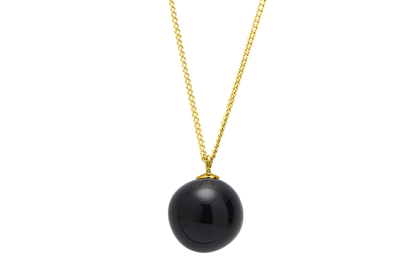 pearl-01-02 gold plated Black