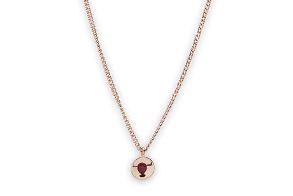 Embrace-01-02 rose gold plated Ruby