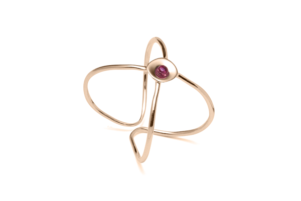 Embrace-04-01 rose gold plated Ruby