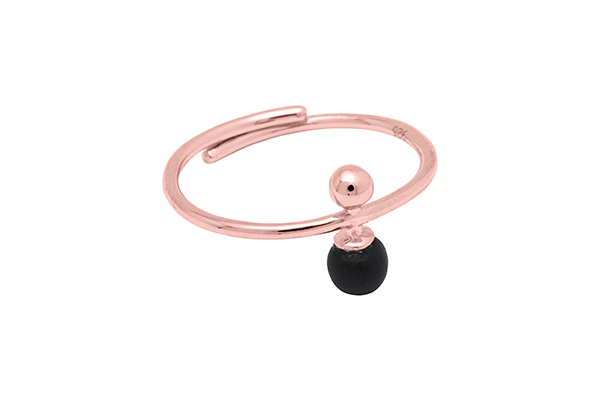 Sphere-04-03 rose gold plated Black mat