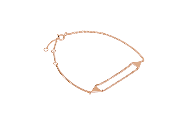 Triangle-02-03 rose gold plated None