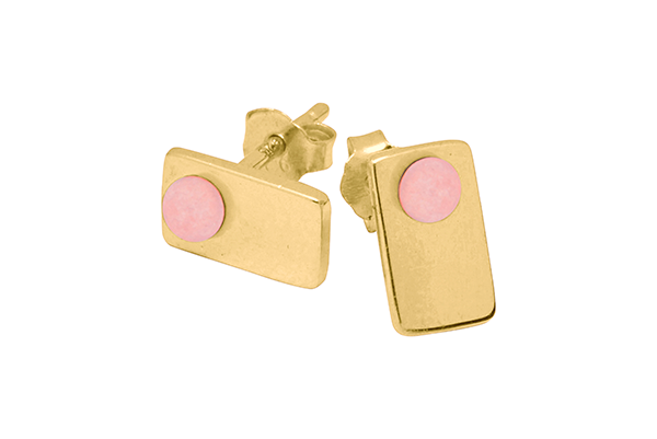 Point-03-01 gold plated Pink Coral mat